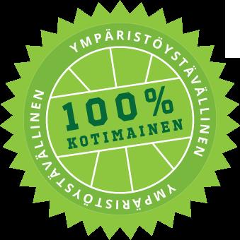 Ympäristöystävällinen ja 100% kotimainen!